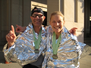 Jeff and Katherine, post-race Indy Monumental